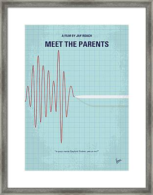 No656 My Meet The Parents Minimal Movie Poster Framed Print