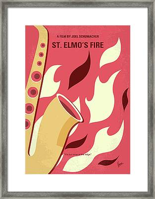 No657 My St Elmos Fire Minimal Movie Poster Framed Print by Chungkong Art