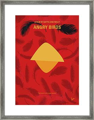 No658 My Angry Birds Movie Minimal Movie Poster Framed Print