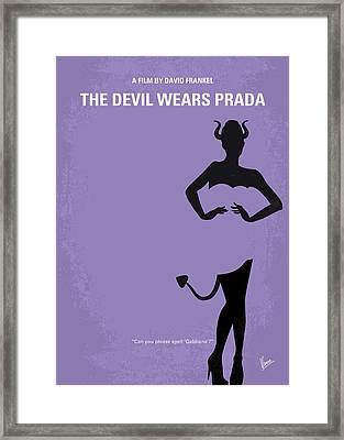 No661 My The Devil Wears Prada Minimal Movie Poster Framed Print by Chungkong Art