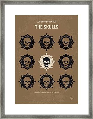 No662 My The Skulls Minimal Movie Poster Framed Print by Chungkong Art