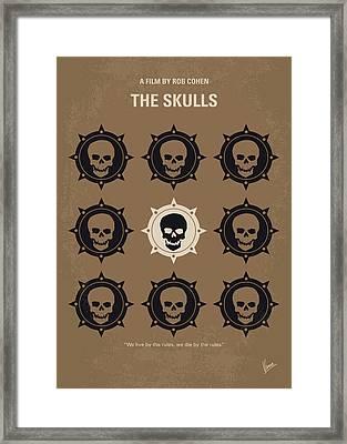 No662 My The Skulls Minimal Movie Poster Framed Print by Chungkong Art