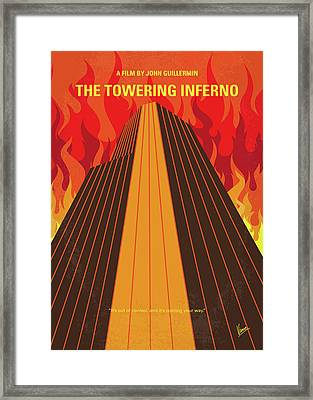 No665 My The Towering Inferno Minimal Movie Poster Framed Print