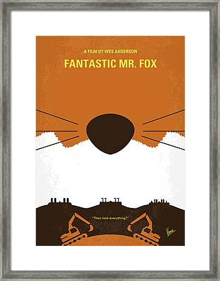 No673 My Fantastic Mr Fox Minimal Movie Poster Framed Print