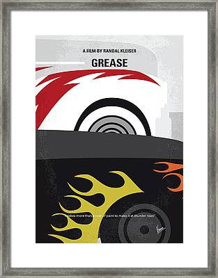 No674 My Grease Minimal Movie Poster Framed Print