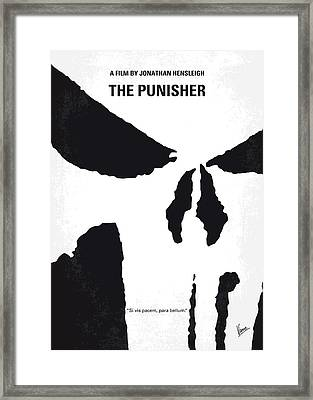 No676 My The Punisher Minimal Movie Poster Framed Print