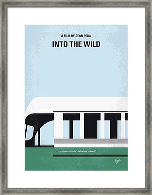 No677 My Into The Wild Minimal Movie Poster Framed Print