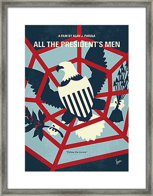 No678 My All The Presidents Men Minimal Movie Poster Framed Print by Chungkong Art