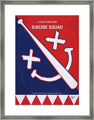 No680 My Suicide Squad Minimal Movie Poster Framed Print