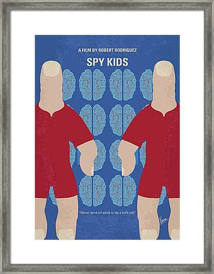 No681 My Spy Kids Minimal Movie Poster Framed Print by Chungkong Art