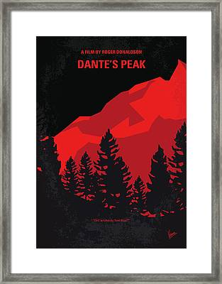 No682 My Dantes Peak Minimal Movie Poster Framed Print by Chungkong Art