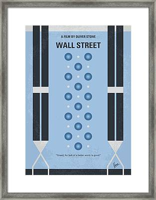No683 My Wall Street Minimal Movie Poster Framed Print