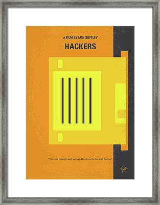 No684 My Hackers Minimal Movie Poster Framed Print by Chungkong Art