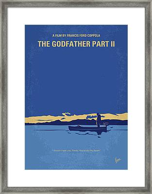 No686-2 My Godfather II Minimal Movie Poster Framed Print