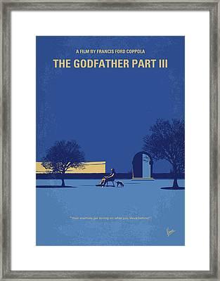 No686-3 My Godfather IIi Minimal Movie Poster Framed Print