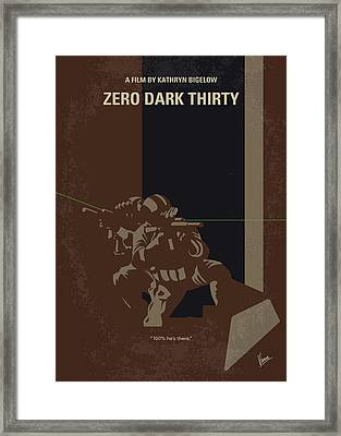 No692 My Zero Dark Thirty Minimal Movie Poster Framed Print by Chungkong Art