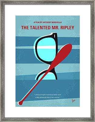 No694 My The Talented Mr Ripley Minimal Movie Poster Framed Print
