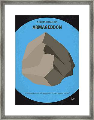 No695 My Armageddon Minimal Movie Poster Framed Print