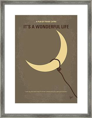 No700 My Its A Wonderful Life Minimal Movie Poster Framed Print