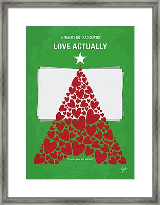 No701 My Love Actually Minimal Movie Poster Framed Print by Chungkong Art