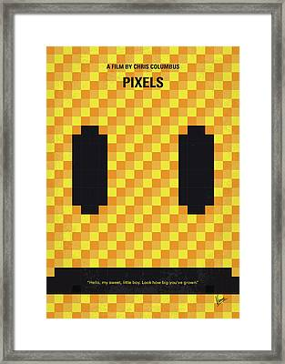 No703 My Pixels Minimal Movie Poster Framed Print