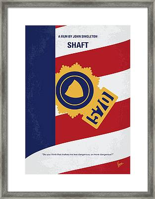 No705 My Shaft Minimal Movie Poster Framed Print by Chungkong Art