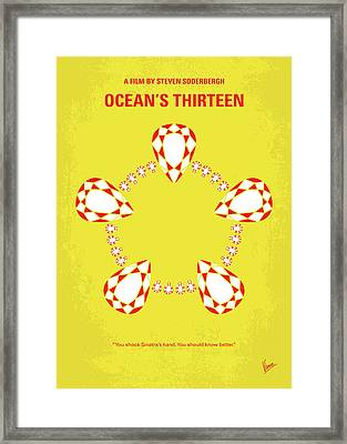 No706 My Oceans 13 Minimal Movie Poster Framed Print