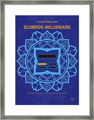 No708 My Slumdog Millionaire Minimal Movie Poster Framed Print by Chungkong Art