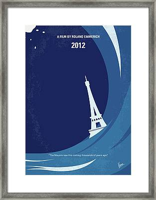 No709 My 2012 Minimal Movie Poster Framed Print