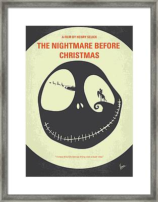 No712 My The Nightmare Before Christmas Minimal Movie Poster Framed Print by Chungkong Art