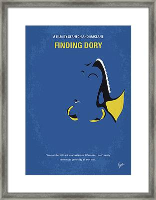 No717 My Finding Dory Minimal Movie Poster Framed Print by Chungkong Art