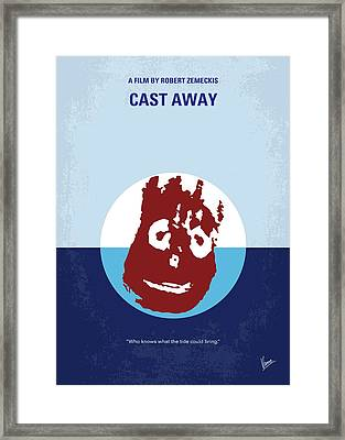 No718 My Cast Away Minimal Movie Poster Framed Print