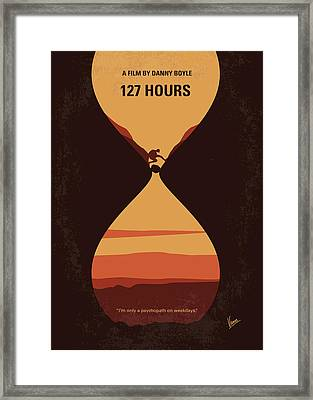 No719 My 127 Hours Minimal Movie Poster Framed Print