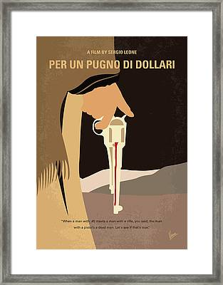 No721 My A Fistful Of Dollars Minimal Movie Poster Framed Print by Chungkong Art