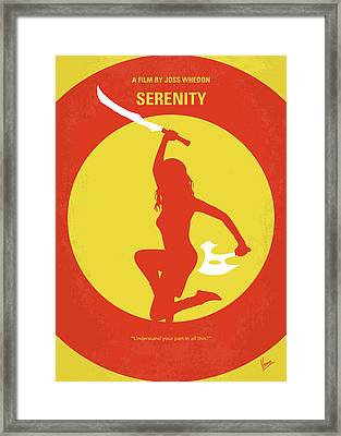 No722 My Serenity Minimal Movie Poster Framed Print