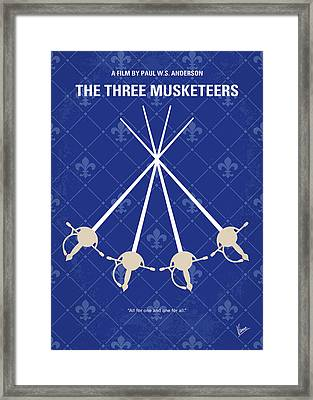 No724 My The Three Musketeers Minimal Movie Poster Framed Print by Chungkong Art