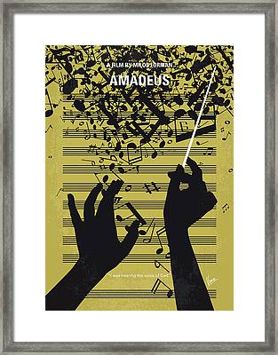 No725 My Amadeus Minimal Movie Poster Framed Print
