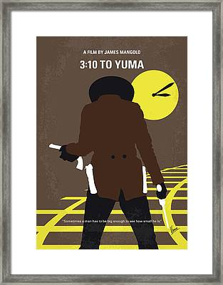 No726 My 310 To Yuma Minimal Movie Poster Framed Print by Chungkong Art