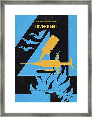 No727 My Divergent Minimal Movie Poster Framed Print by Chungkong Art