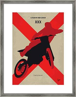 No728 My Xxx Minimal Movie Poster Framed Print