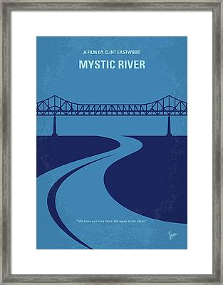 No729 My Mystic River Minimal Movie Poster Framed Print