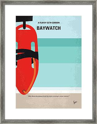 No730 My Baywatch Minimal Movie Poster Framed Print