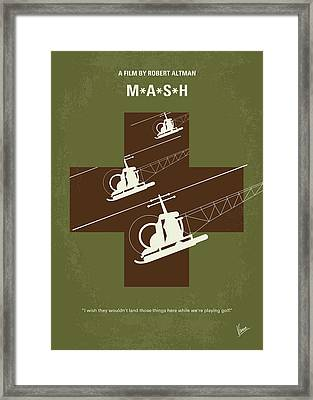 No733 My Mash Minimal Movie Poster Framed Print by Chungkong Art