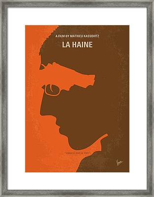 No734 My La Haine Minimal Movie Poster Framed Print