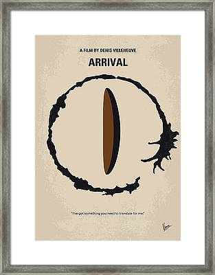 No735 My Arrival Minimal Movie Poster Framed Print by Chungkong Art