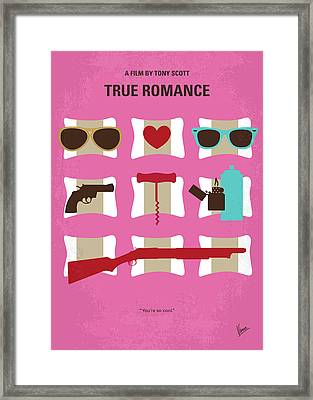 No736 My True Romance Minimal Movie Poster Framed Print