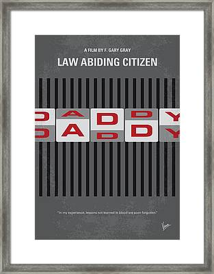 No738 My Law Abiding Citizen Minimal Movie Poster Framed Print