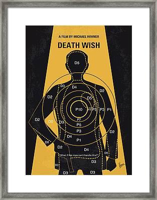 No740 My Death Wish Minimal Movie Poster Framed Print by Chungkong Art