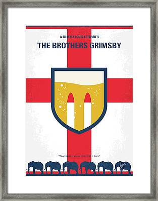 Framed Print featuring the digital art No741 My Grimsby Minimal Movie Poster by Chungkong Art