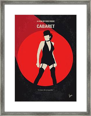 No742 My Cabaret Minimal Movie Poster Framed Print by Chungkong Art